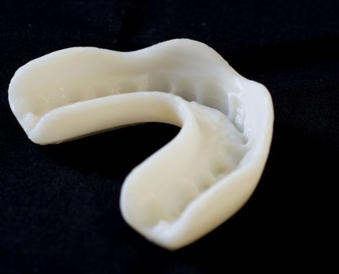 Single-click solution for 3D mouthguard printing